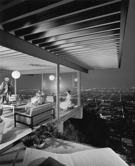 Julius Shulman,<em> Case Study House No. 22 (Los Angeles, Calif.)</em>, 1960. Gelatin silver print, 9 15/16 x 7 15/16 inches. Julius Shulman Photography Archive, Getty Research Institute, Los Angeles, 2004.R.10. &copy; 2018 Estate of Julius Shulman/ J. Paul Getty Trust, Getty Research Institute, Los Angeles.