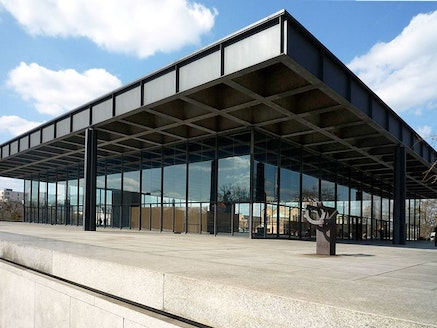 The New National Gallery in Berlin. Designed by Mies, opened in 1968.