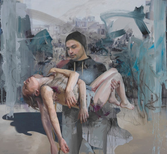 Jenny Saville, <em>Blue Pieta</em>, 2018. © Jenny Saville. Photo: by Mike Bruce. Courtesy Gagosian.