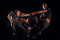 Members of Sean Dorsey Dance performing <em>THE MISSING GENERATION.</em> Photo © Kegan Marling.