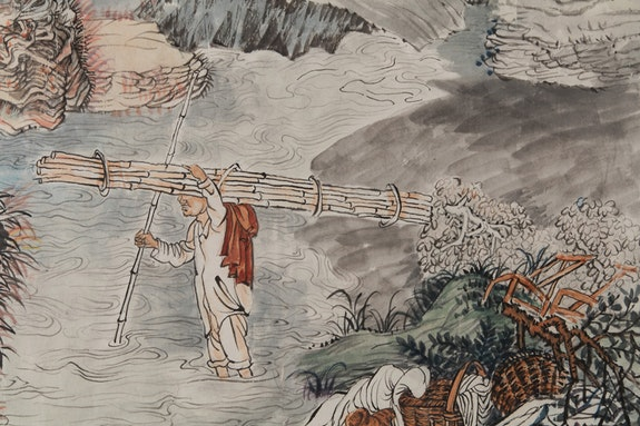 Yun-Fei Ji, <em>, The Processions</em> (detail), 2017-2018. Watercolor and ink on Xuan paper, 17 1/4 x 83 1/4 inches. Courtesy the artist and James Cohan, New York.