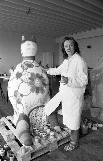 Portrait of Niki de Saint Phalle.