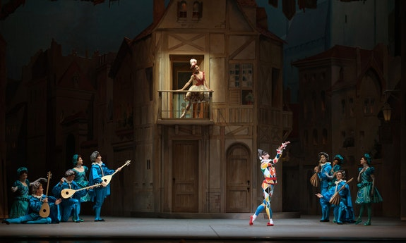 Isabelle Boylston and James Whiteside in Alexei Ratmansky's Harlequinade. Photo: Julia Cervantes