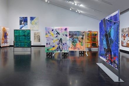 <p>Installation View, <em>Dona Nelson: Stand Alone Paintings</em>, 2018, Tang Teaching Museum at Skidmore College. Courtesy the artist and Thomas Erben Gallery, New York. Photo: Andreas Vesterlund.</p>