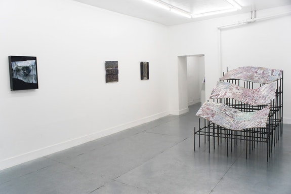 Installation view, Antonia Kuo: <em>Collapsed Field</em>, Rubber Factory, 2018.