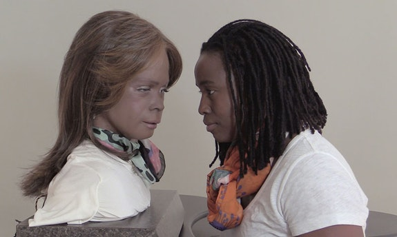 Stephanie Dinkins, <em>Conversations with Bina48</em>, 2014−ongoing. Video, sound, durations vary. © Stephanie Dinkins, Courtesy the artist.