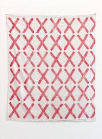 Louis Cane, <em>Croix</em>, 1966, Ink on fabric, 169 x 139 cm. Courtesy Emmanuel Barbault Gallery and Ceysson & Bénétière.