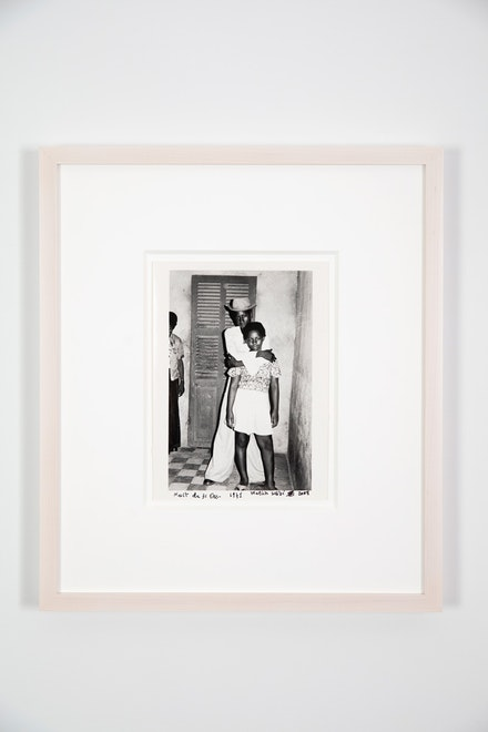 Malick Sidibé, <em>Nuit du 31 Decembre</em>, 1971/2008. Gelatin silver print, 9 x 5 3/4 inches, signed, titled, and dated on front. Courtesy Jack Shainman Gallery.