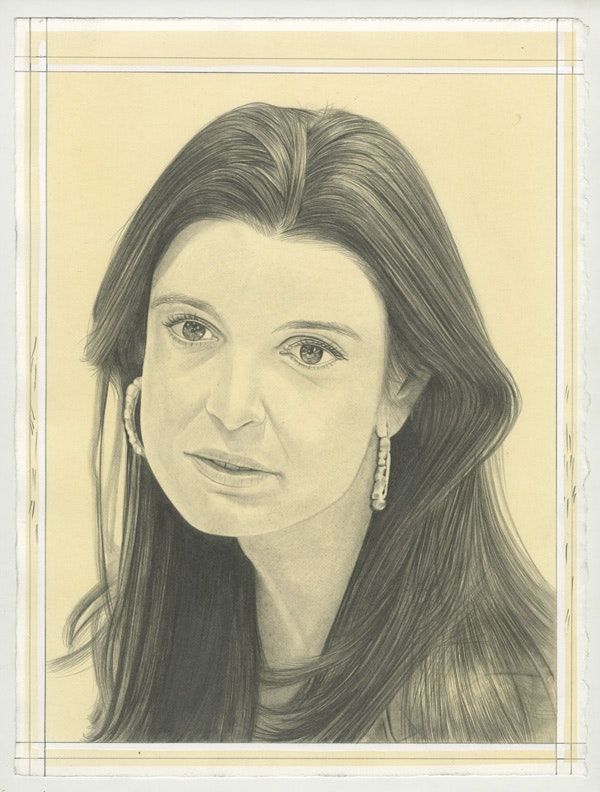 Portrait of Deborah Najar, pencil on paper by Phong Bui.