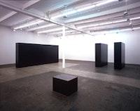 Tony Smith installation. ©Tony Smith Estate and ARS (Artists Rights Society), NY. Courtesy Matthew Marks Gallery, NY.