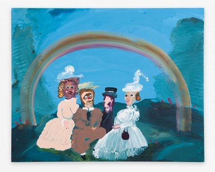 <p>Genieve Figgis, <em>Under the Rainbow</em>, 2018. Acrylic on canvas. 32 x 40 inches. Courtesy the artist and Almine Rech Gallery.</p>