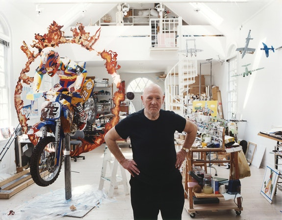 Malcolm Morley in his studio in Bellport, New York, in 2009. Courtesy Sperone Westwater, New York. Photo: Jason Schmidt