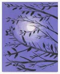 Ann Craven, <em>Lavender Moon (Bluish Light), 2018</em>, 2018. Oil on canvas, 90 x 72 inches. Courtesy Karma.