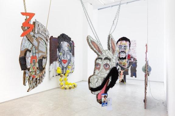 Installation view of Aaron Fowler: <em>Donkey Nights</em>, Salon 94, 2018. Courtesy Salon 94.