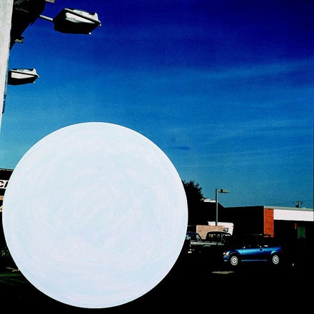 John Baldessari, <em>National City (1)</em>, 1996/2009. Chromogenic print with acrylic paint. Courtesy the artist and Yancey Richardson.