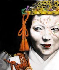 Atsuki Settangeli, <em>Samurai Woman No.069</em>, 2018. Oil on canvas,  28.5 x 24 inches. Courtesy WhiteBox.