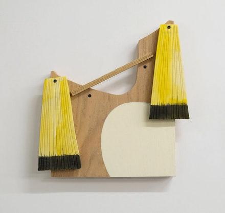 Christina Tenaglia, <em>untitled</em>, 2018. Wood, paint, ink, nails, and screws. &copy; Christina Tenaglia. Courtesy Cross Contemporary.