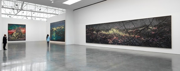 Installation view: <em>Zeng Fanzhi: Paintings, Drawings, and Two Sculptures</em>. November 6 &ndash; December 23, 2015. Gagosian Gallery, New York. Artwork &copy; Zeng Fanzhi Studio. Photography by Rob McKeever. Courtesy Gagosian Gallery.