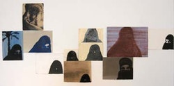 Eyal Danieli's paintings, installation view.