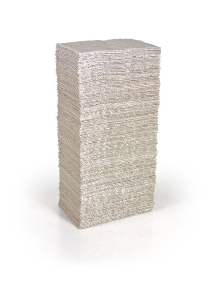 Liza Lou, <em>Book of Days</em>, 2009-10. 365 woven pages stacked on top of each other. Glass beads, cotton, 8.6 x 13.4 x 26 inches, Photo: Dean Elliot. Courtesy the artist and Lehmann Maupin, New York and Hong Kong.