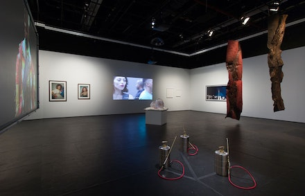 <p>Installation view, <em>The Racial Imaginary Institute: On Whiteness</em>, The Kitchen, 2018. Photo: © Jason Mandella.</p>