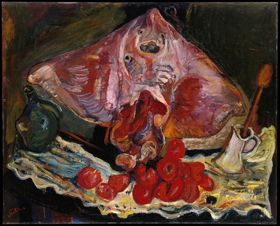 <p>Chaim Soutine, <em>Still Life with Rayfish</em>, c. 1924. Oil on canvas. © Artists Rights Society (ARS), New York; Image provided by The Metropolitan Museum of Art / Art Resource, NY.</p>