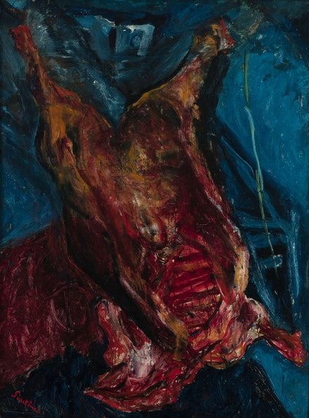 <p>Chaim Soutine<em>, Carcass of Beef</em>, c. 1925. Oil on canvas. Collection of Albright-Knox Art Gallery, Buffalo, New York. © Artists Rights Society (ARS), New York.</p>