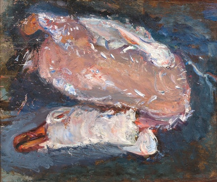 <p>Chaim Soutine, <em>Plucked Goose</em>, c. 1933. Oil on panel. Private Collection. © Artists Rights Society (ARS), New York. Photo: Joshua Nefsky.</p>