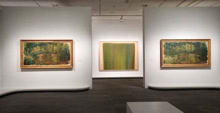 Installation view, <em>The Water Lilies: American Abstract Painting and the Last Monet</em>, Musée de l'Orangerie, Paris, 2018. Photo: Sophie Crépy-Boegly. © Musée de l'Orangerie.