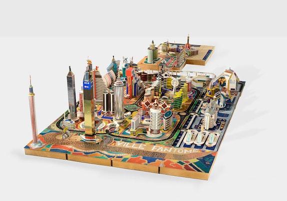 <p>Bodys Isek Kingelez, <em>Ville Fant&ocirc;me</em>, 1996. Paper, paperboard, plastic and other various materials, 47 1/4 x 104 7&frasl;16 x 94 1&frasl;2 inches. &copy; Bodys Isek Kingelez. Photo: Maurice Aeschimann. Courtesy CAAC-The Pigozzi Collection.</p>