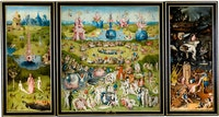 <p>Hieronymus Bosch, <em>The Garden of Earthly Delights</em>, c.1500. Oil on oak panels, 87 x 153 inches. Museo del Prado, Madrid.</p>