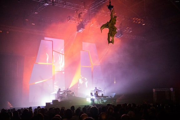 Oneohtrix Point Never's <em>MYRIAD</em> at the Park Avenue Armory. Photo: Todd Owyoung/Red Bull Content Pool