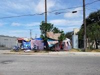 <i>Abolish ICE camp, San Antonio. Photo by the author.</i>