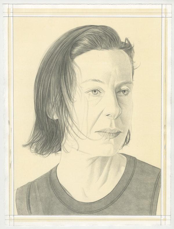 Portrait of Ellen Berkenblit, pencil on paper by Phong Bui.