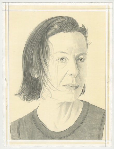 Portrait of Ellen Berkenblit, pencil on paper by Phong Bui.