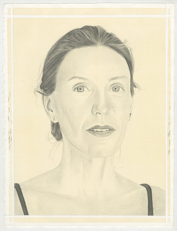 Portrait of Liza Lou, pencil on paper by Phong Bui.