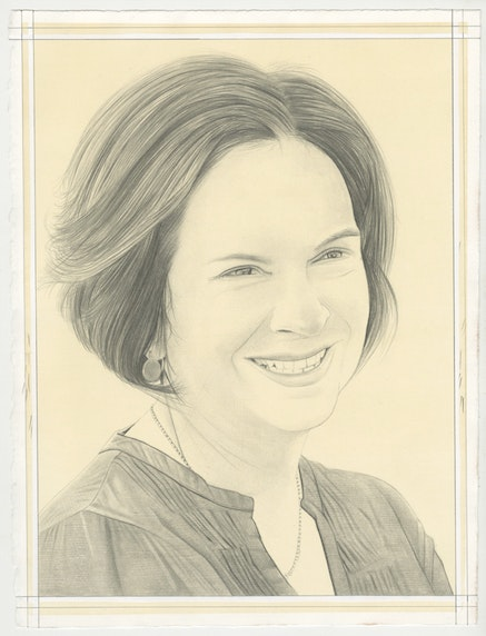 Portrait of Sharon Hecker, pencil on paper by Phong Bui.