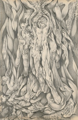 Gray Foy, <em>Untitled [Nudes Emerging from Botanical and Avian Forms]</em>, 1948. Private collection. &copy; 2018 Estate of Gray Foy.