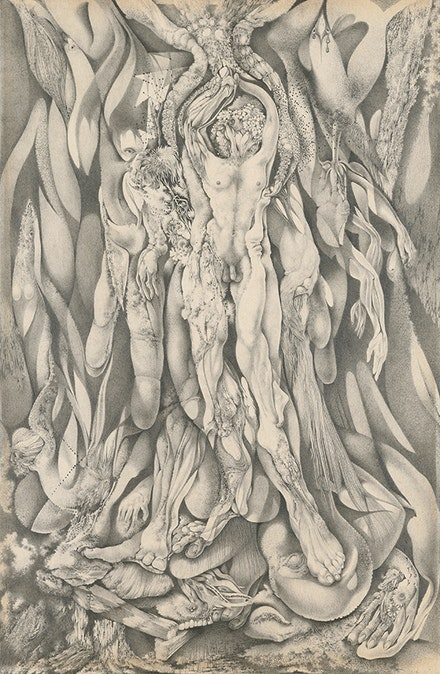 Gray Foy, <em>Untitled [Nudes Emerging from Botanical and Avian Forms]</em>, 1948. Private collection. © 2018 Estate of Gray Foy.