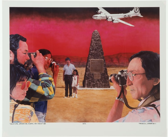 Patrick Nagatani, <em>Trinity Site, Jornada del Muerto, New Mexico</em>, 1989. Cibachrome print on paper. Courtesy the Albuquerque Museum.