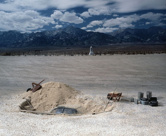 Patrick Nagatani, <em>Toyota, Manzanar, Inyo County, California, U.S.A.</em>, 1993  /  1999. Ilfochrome print on paper. Courtesy the Albequerque Museum.