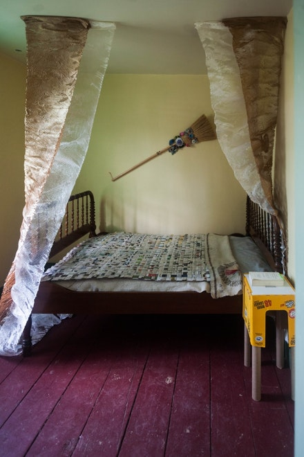 <p>Bedroom #2 of the Historic Hunterfly Road House's 1860s at Weeksville Heritage Center, 2014. Image courtesy Weeksville Heritage Center. </p>