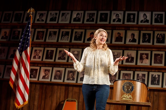 Heidi Schreck in<em>What the Constitution Means to Me</em>. Photo by Joan Marcus.