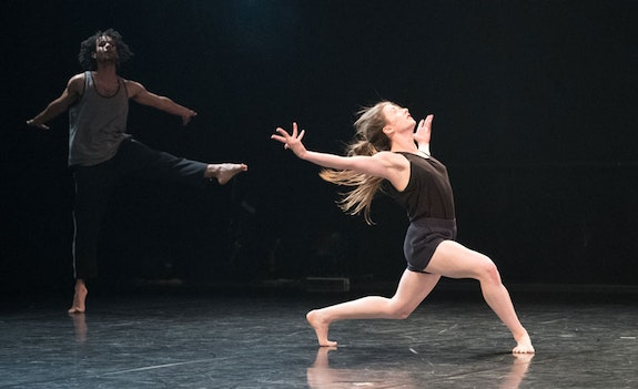 Christian Allen and Lindsey Matheis in <i>I hunger for you </i> Photo: Jim Coleman