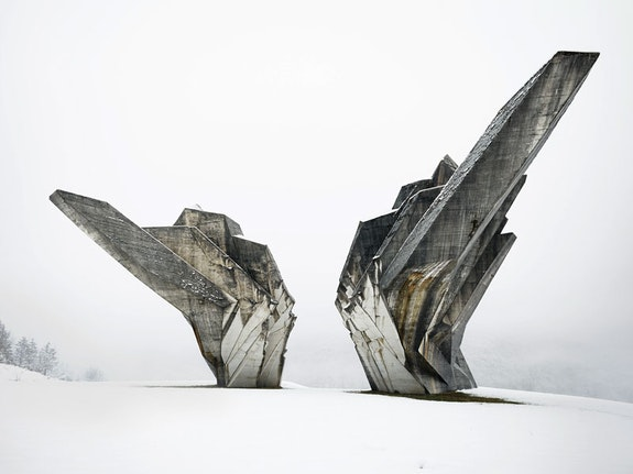 Miodrag Živković, <em>Monument to the Battle of the Sutjeska</em>, 1965–71, Tjentište, Bosnia and Herzegovina. Photo: Valentin Jeck, commissioned by The Museum of Modern Art, 2016.