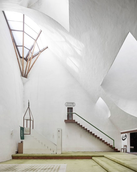 Zlatko Ugljen, <em>Šerefudin White Mosque</em>, 1969–79. Visoko, Bosnia and Herzegovina. Interior view. Photo: Valentin Jeck, commissioned by The Museum of Modern Art, 2016.