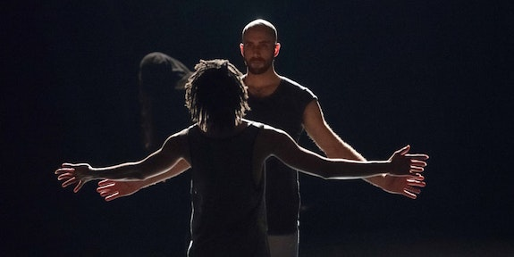 Christian Allen and Lindsey Matheis in <i>I hunger for you</i> Photo: Jim Coleman