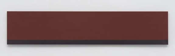"Anne Truitt, <em>Brunt</em>, 1974. Acrylic on canvas, 19 x 92 inches. © <a href=""""http://annetruitt.org/"""" target=""""_blank"""" data-saferedirecturl=""""https://www.google.com/url?hl=en&q=http://annetruitt.org&source=gmail&ust=1539188929223000&usg=AFQjCNHWhRwrblDWH_McaWCySMk2ApRrZg"""">annetruitt.org</a> / Bridgeman Images / Courtesy Matthew Marks Gallery."