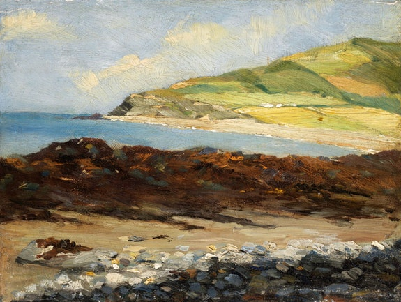 Roderic O'Conor, <em>Between the Cliffs, Aberystwyth</em>, c.1883-4. Oil on panel, 24.1 x 32.4 cm. Photo © National Gallery of Ireland.