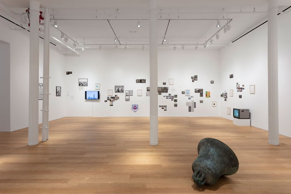 Emily Jacir, <em>La Mia Mappa</em>, 2018<em>. </em>Installation view. Alexander and Bonin, New York<em>. </em>Photo: Joerg Lohse<em>. </em>&copy; Emily Jacir. Courtesy Alexander and Bonin, New York.